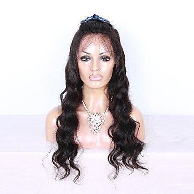 Densidad de 130% Brazilian Virgin Hair Lace Front Peluca Color Negro ...