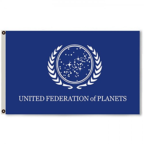 Star Trek Banners (Flylong Star Trek Federation of Planets Flag Banner 3X5 Feet Blue)