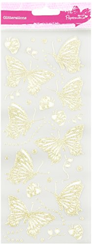 (DOCrafts Anita's Glitterations Butterflies Stickers, Gold)