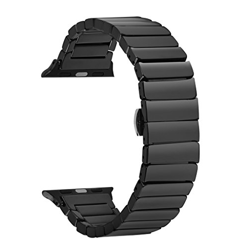 Ceramic Band for Apple Watch, SOWELL Fashional Ceramic Bracelet Wrist Band for Apple Iwatch (42MM ()
