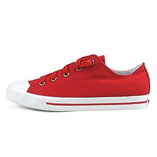 Burnetie Women's Ox Canvas Sneaker Red