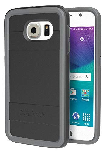 Pelican Progear Protector Series Case for Samsung Galaxy S6 - Retail Packaging (Black/Gray) (Pelican Case For Headphones)