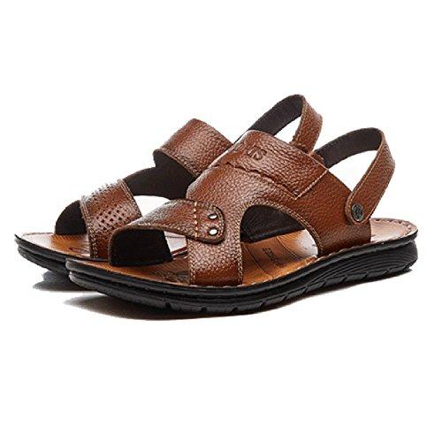 Pelle Casual Antisudore Sandali Uomo Da Brown Da Sandali Pantofole Da scivolo Spiaggia Spiaggia In Uomo Pantofole Da Anti Scarpe TO7Tr