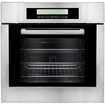 empava kqp65a 16 220v tempered glass electric built in single wall oven 24 quot black