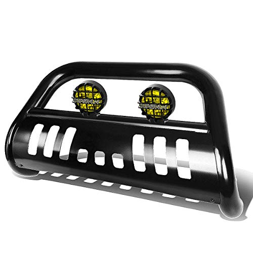 For Ford F150/Expedition 3 inches Black Bull Bar+6 inches Black Housing Amber Lens Fog Lights