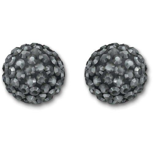 Jet Hematite Pierced Earrings - 2