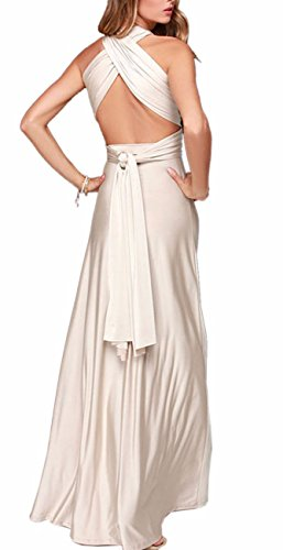 Beige Dress Sexyshine Dress Backless Dress Cocktail Way Bridesmaid Infinity Bandage Halter Long Gown Wrap Women's Multi rBBnfqwZg