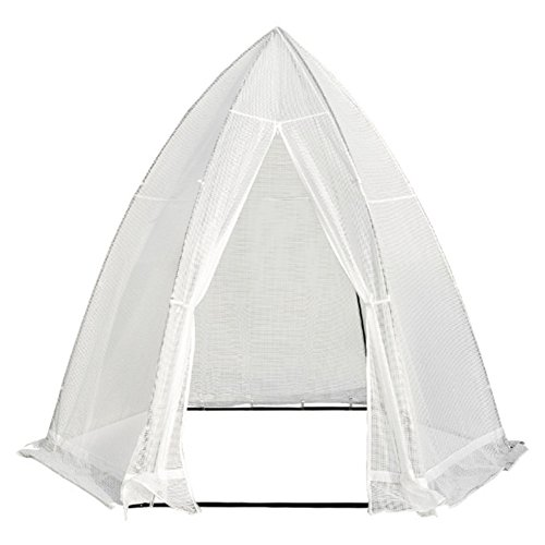 Abba Patio Portable 10.4'D x 9'W Hexagonal Walk in Greenhouse Fully Enclosed Lawn and Garden Outdoor Tent with Window, White Review