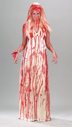 Adult Prom Nightmare 80s Horror Film Costume