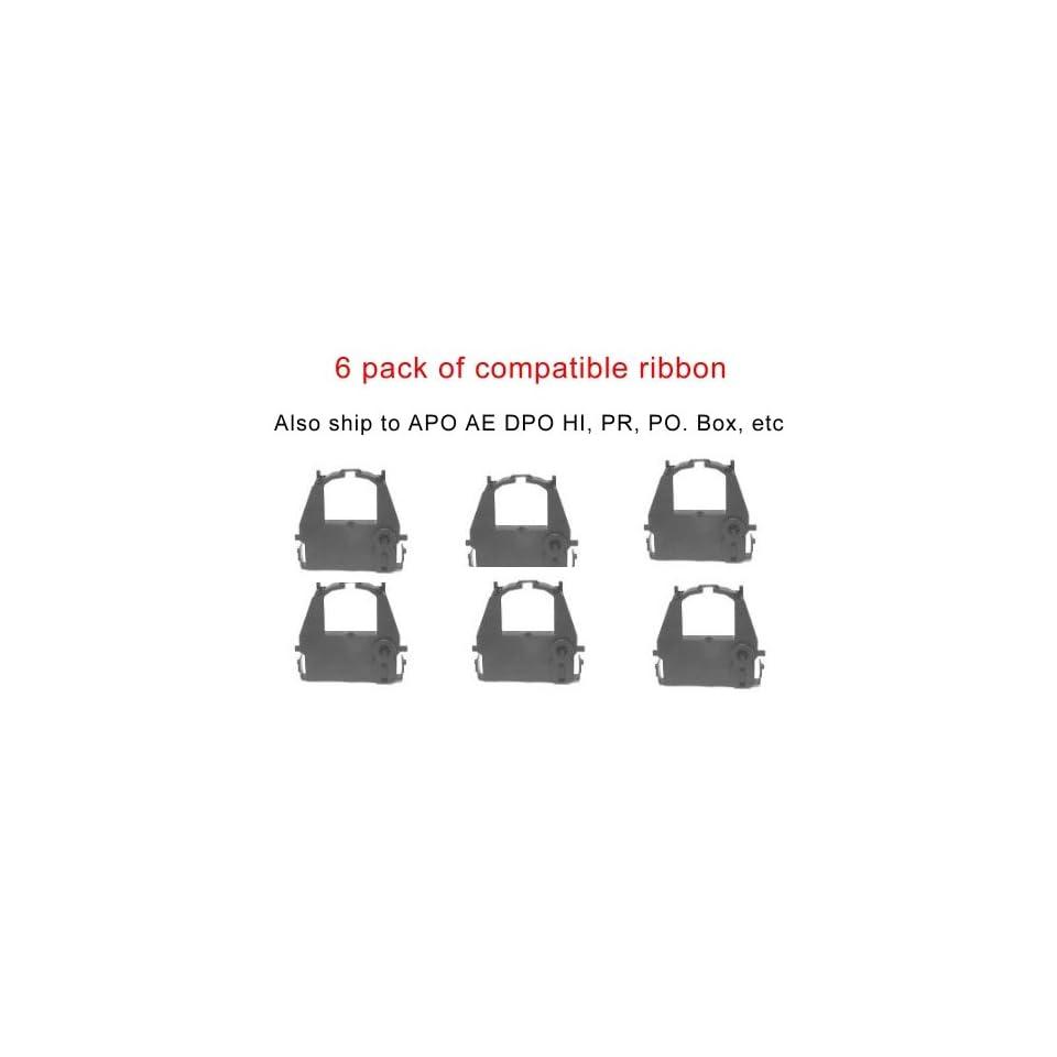 Six Compatible Fabric black print ink Ribbon cartridge to replace ca02374c104 for Fujitsu DL3700 DL3800 DL9300 DL9400 Pro Dot Matrix Printer. Printing for cheap Photosharp ships to Hawaii, Alaska, APO,FPO, AE, PO Box, Puerto Rico PR, and the Virgin Island