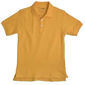 School Uniform Unisex Short Sleeve Pique Knit Shirt By French Toast, Gold 31912-2T