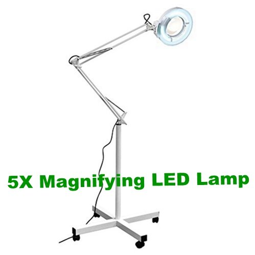 5X Magnifying LED Floor Lamp with Swivel Arm Spa Equipment Facial Machine Beauty Tool from BeautySpa