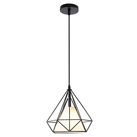 Lámpara Colgante Moderna De Luz Vendimia Luz De Techo Hierro Jaula ...