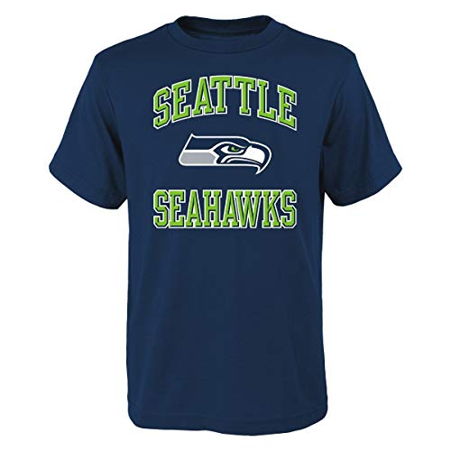 Ovation Print T-shirt (Outerstuff Seattle Seahawks Youth NFL Ovation Short Sleeve T-Shirt)