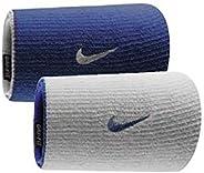 Munhequeira Nike Grande Dri-Fit Dupla Face - Azul com Branco