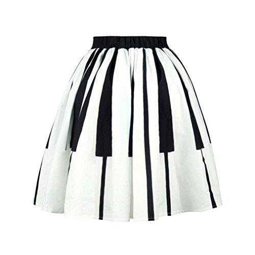 Unfinished Tv Armoires (NewKelly Women Piano Keys Printed Skirt High Waist Thin Skirt Fancy Pattern Skirt (M))