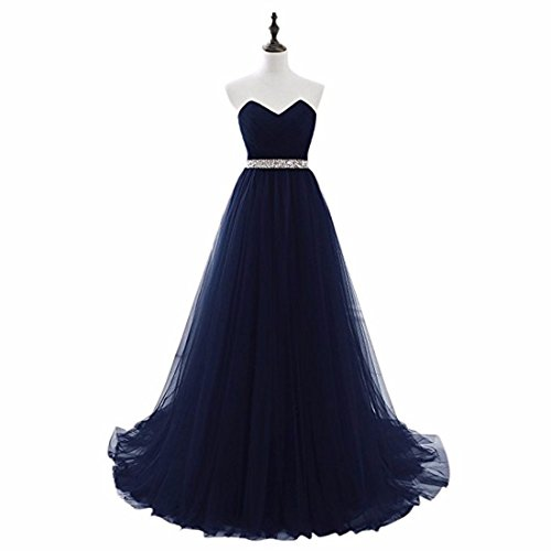 Prom Dress Wedding Gowns Chiffon Strapless Long Blue Maxi Belted Navy Cocktail Bridal xnIzpRwq