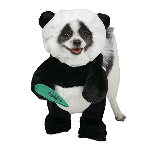 Best Black Dog Costumes - Pandaloon Panda Puppy Dog Pet Costume (Size 2 (15-17 in total height), Panda)