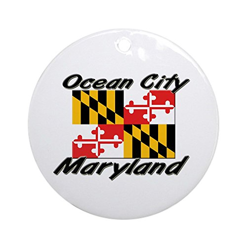 CafePress Ocean City Maryland Ornament (Round) Round Holiday Christmas Ornament ()