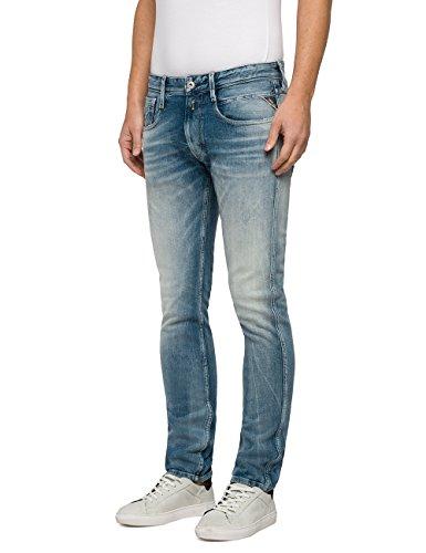 Anbass Blu Uomo Jeans Blue light Replay Slim Denim 10 6Ixd5tnqw