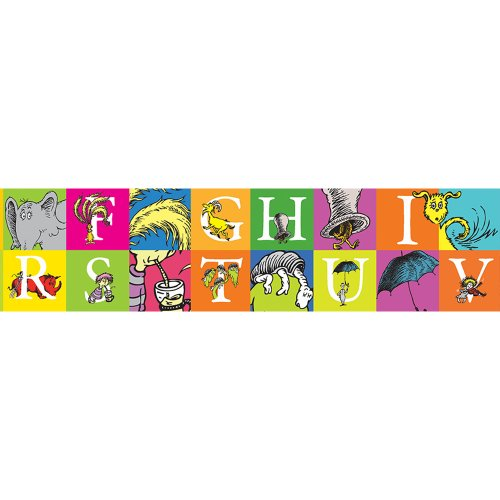 Eureka Dr. Seuss 'Horton Hears A Who' ABCs Bulletin Board Trim and Classroom Decoration for Teachers, 12pc, 3.25'' W x 37'' L (School Time Border Trim)