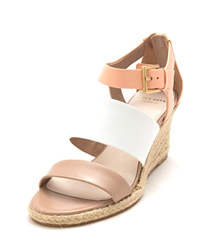Cole Sandals Platform Phoebesam Haan Taupe White Casual Coral Toe Womens Open rfrqwT0
