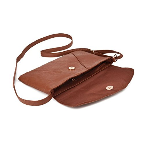 Shoulder Envelope Womens Crossbody Leather Black Purse Bag ZOONAI Small ZgBqXq