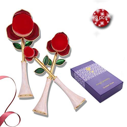 Rose Foundation Makeup Brush Set