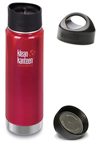 Wide Loop Cap (Klean Kanteen Wide Mouth Insulated Stainless Steel Bottle with 2 Leakproof Caps (Loop Cap and Cafe Cap 2.0) - 20 Ounce Roasted Pepper)