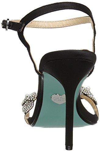 Johnson Sandal WoMen by Betsey Sb Harlo Black Heeled Blue qnPvA7w4x7