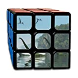 Custom 3x3 3 by 3 Speed Cube Best Brain Training Toys 3x3x3 Mamenchisaurus Dinosaur Foggy Day 3 D Illustration 3 3 Speed Cube Party Game for Boys Girls Kids Toddlers-55mm