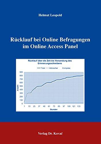 Rücklauf bei Online Befragungen im Online Access Panel (Schriften zur Arbeits-, Betriebs- und Organisationspsychologie)