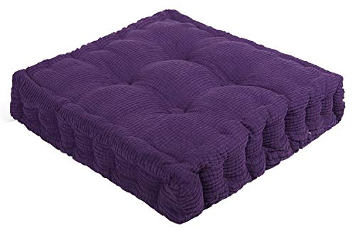 "ChezMax Soft Polyester Cotton Chair Cushion Thickened Office Pad Purple 18"" x 18"""