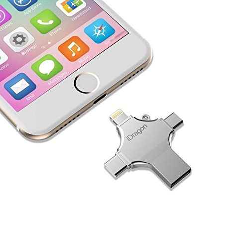 USB Flash Drive for iPhone 64GB External Storage Expansion Memory Stick, Thumb Drive Lightning Connect iPhone Android Type C PC by Hetaicam