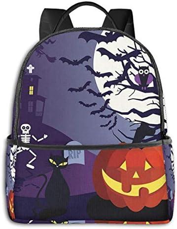 ハロウィン夜 かぼちゃ リュックサック バックパック スクールバッグ 幼稚園 通園 入園 入学 チアフルデイパックかわいい おしゃれ 学生 男の子 女の子 遠足 フラッシュデイ