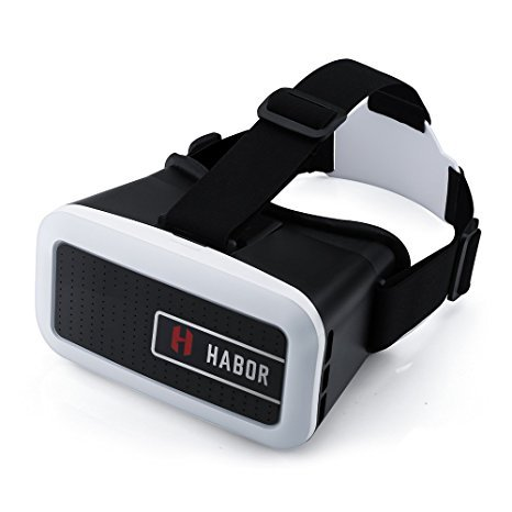 Habor 3D VR Virtual Reality Headset for smartphones for 3D Movies/Games (Black) by Habor