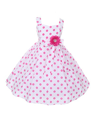 Cinderella-Couture-Big-Girls-Polka-Dotted-Rockabilly-Dress-Pink-1112