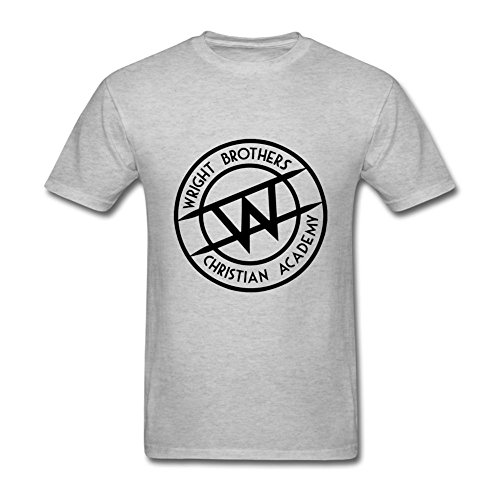 Oryxs Men's wright brothers Logo T-Shirt L Grey