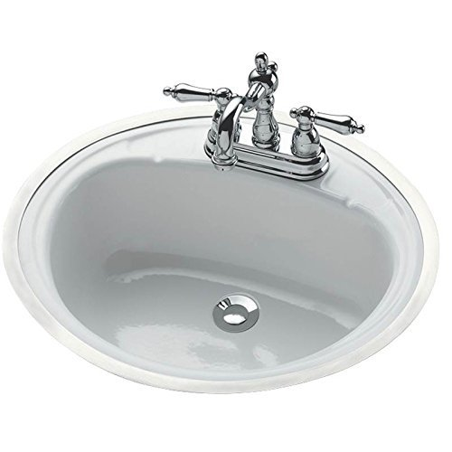 Bootz Industries 021-2440-00 Oval Bathroom Sink, Undercounter Mount 19 In. x 16 In. White - 581003 by Bootz Industries by Bootz Industries