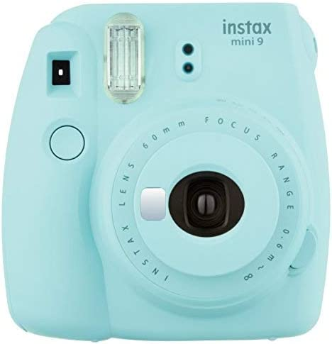 This is an image of an Instax mini 9 in Ice Blue color.