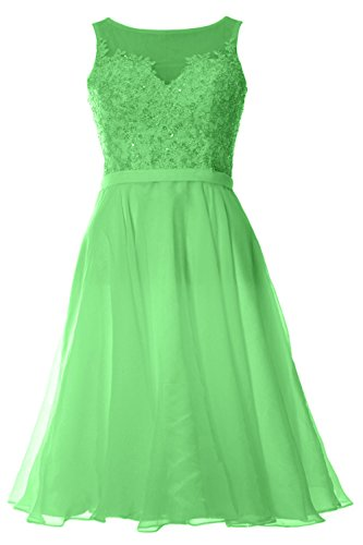 MACloth Women Bateau Lace Short Homecoming Cocktail Dress Evening Party Gown Menta