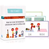 Feeloty Nice to Meet - Conversation Starter for Kids - Family Card Game for Relationship Building - Fun Dinner Table, Road Trip, Car Tavel Question Card Game