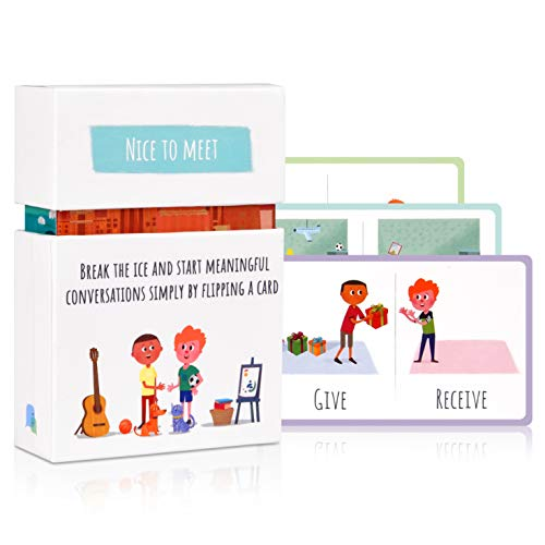 Feeloty Nice to Meet - Family Card Game for Relationship Building - Conversation Starter and Questions for Games Night, Kids, Travel - Fun Icebreaker Table Activity for Social, Communication Skills (Building A Safe Room In Your House)
