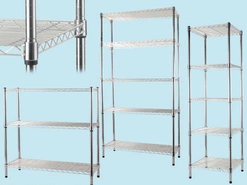 Scaffalature In Metallo Brico.Scaffale Manhattan 45x45x150 In Acciaio Cromato 5 Piani Amazon