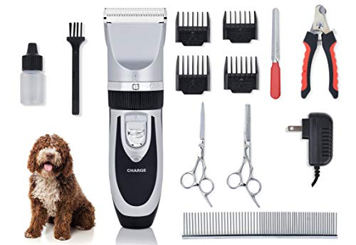 Love Bucket Pets Cordless Silent Pet Grooming Kit - Professional, Cordless and Quiet, for Dogs, Cats and Horses - Bond with Your Pet and Save Money