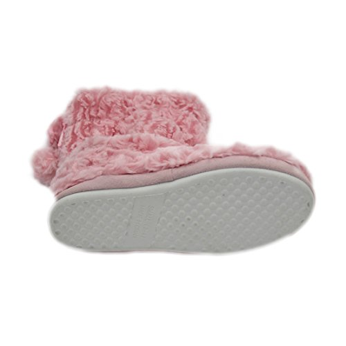 Forfoot Femmes Confortable Polaire Maison Intérieure Pantoufle Bottes Rose Clair