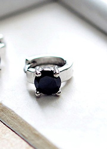 Mini only one Ear Buckle Black Onyx Diamond Bones Men Women Creative Circle Earrings Earring Dangler Eardrop Clip Korea -