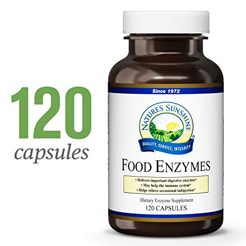 Nature's Sunshine Food Enzymes, 120 Capsules | Digestive Enzymes with Betaine HCL Support The Digestive System and Provide Occasional Indigestion Relief (Foods 120 Caps)