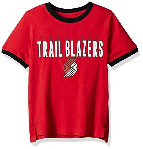 Outerstuff NBA NBA Kids & Youth Boys Portland Trail Blazers Key Short Sleeve Fashion Tee, Red, Youth Medium(10-12)