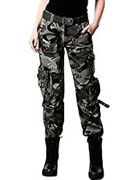 Women's Active Loose Fit Military Multi-Pockets Wild...